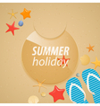Summer holidays sticker vector image