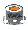 super cool sushi cartoon character style vector image vector image