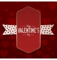 Vertical realistic Valentines Day Emblem vector image