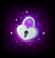 video game icon with silver sparkly padlock on vector image vector image