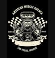 vintage shirt design american muscle car engine vector image vector image