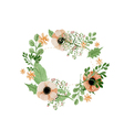 Wedding flower wreath vector image vector image
