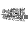 where is spain on the map text word cloud concept vector image vector image