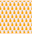 yellow pear seamless pattern vintage style vector image
