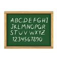School board with chalk alphabet letters vector image