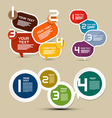 Infographics Layout with Paper Labels - Tags vector image