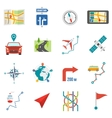 Map Icons Flat vector image