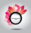 Colorful floral abstract background vector image