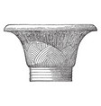 a capital from karnak roofs vintage engraving vector image vector image