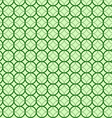 Abstract geometric circles seamless pattern green vector image