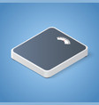 analog 3d floor scales isometric vector image