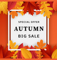 autumn big sale concept background realistic vector image vector image