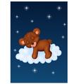 Baby bear sleeping on the cloud vector image vector image