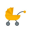 baby carriage icon flat style vector image