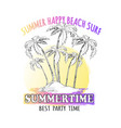 best time for summer parties graphic vector image vector image