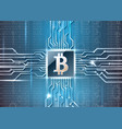 bitcoin simbol on microchip vector image vector image