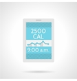 Calorie counter app flat color icon vector image vector image
