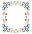 cartoon fun happy frame design element vector image vector image