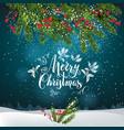 christmas tree decor invitation-04 vector image vector image