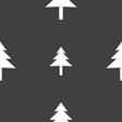 Christmas tree icon sign Seamless pattern on a vector image vector image