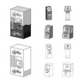 coffee machine atm information terminal vector image