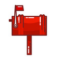 color image a red mailbox icon on a white vector image vector image