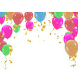 colorful happy birthday announcement design for vector image