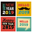 colorful new year 2019 celebration vector image vector image