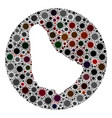 coronavirus stencils circle barbados map mosaic vector image vector image