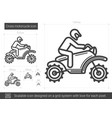cross motorcycle line icon vector image vector image