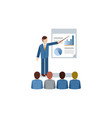 cute businessman presenting to his audiences vector image