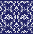 damask seamless textile pattern vector image