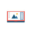 design software icon simple flat element from vector image vector image