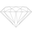 diamond icon on white background vector image vector image