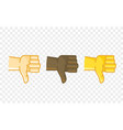 different color hand gesture comic style icon vector image