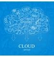 Doodle Social Cloud vector image vector image