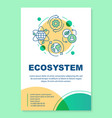 ecosystem poster template layout environmental vector image vector image