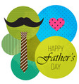 fathers day greeting card design vector image vector image