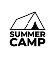 forest camping logo emblem outdoor adventure vector image