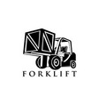 forklift truck vector image vector image