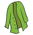 green cardigan on white background vector image vector image