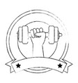 hand human with weight lifting isolated icon vector image vector image