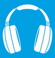 headphones icon white vector image vector image