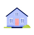 house simple cartoon icon vector image