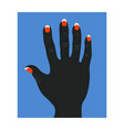 human black hand vector image vector image