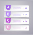 infographic flyer and brochure elements for vector image vector image