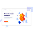 isometric money investment and growth design vector image vector image