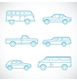 Line Style Cars Set vector image