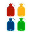medical warmer icon set isolated on white vector image vector image