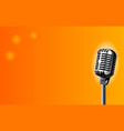 microphone on stage vector image vector image
